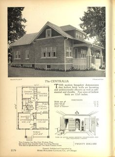 The  CENTRALIA - Home Builders Catalog: plans of all types of small homes by Home Builders Catalog Co.  Published 1928