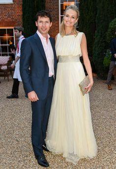Sofia Wellesley in a Cortana dress with her husband James Blunt.   #JamesBlunt #MadeInBarcelona  #WeLoveWomen #Cortana