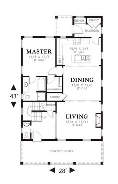 1000 images about house plans on pinterest house plans for Floor plans kitchen in front of house