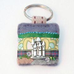 Castle keyring  new home gift  fairy tale by elliestreasuresuk