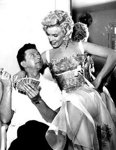 Donald O'Connor and Marilyn Monroe