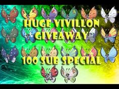 100+ Subs!! All 20 Forms of Shiny Vivillon Giveaway
