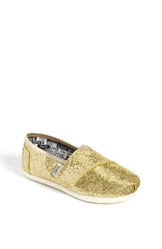 gold glitter BABY TOMS!