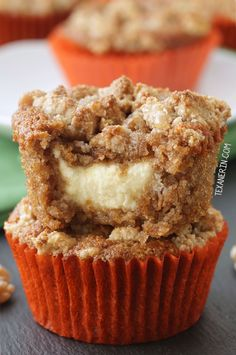 Carrot Cake Cream Cheese Muffins (grain-free, gluten-free) FoodBlogs.com