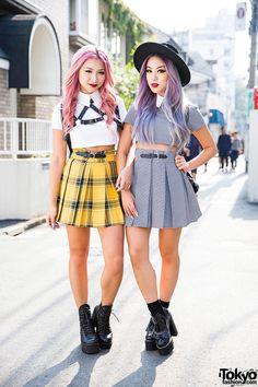 Style Bloggers Francis Lola & Ellen V Lora in Harajuku w/ Deandri & Skinny-dip London // I LOVE the Yellow skirt