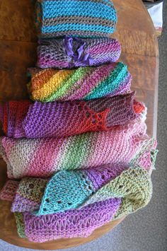 """""""Blooming Loom: Colorful Patterns for Loom Knitters""""  6 loom knitting patterns."""