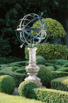 Spherical sculptural sundials on the Financial Times How to Spend it