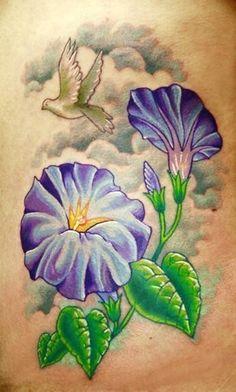 morning glory flower tattoo (8)