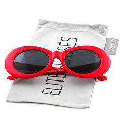 2663f94f90c86 Amazon.com  Clout Goggles Oval Hypebeast Eyewear Supreme Glasses Cool  Sunglasses  Clothing Vintage