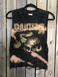 Pantera grunge t shirt.....distressed and by Cranberrymoons