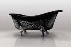 & Dazzling Bathtub Designs 2019 team it with a gothic chandelier, bunches of candles, black roses and voila. the perfect night time relax.team it with a gothic chandelier, bunches of candles, black roses and voila. the perfect night time relax. Roll Top Bath, Gothic Furniture, Black Furniture, Furniture Styles, Furniture Plans, Kids Furniture, Unusual Furniture, Trendy Furniture, Furniture Design