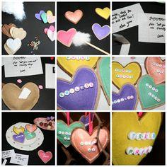 Herz Cookies, heart, love, liebe, selbermachen, Lovely message, Filz Herz Liebes Botschaft diy