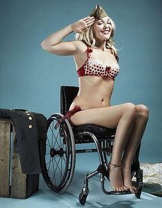Due to a car accident, Sophie Morgan broke her spine and is now a paraplegic. As the founder of the IMPerfect Campaign, Sophie promotes putting people with disabilities in modeling.