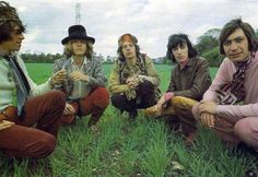 The Rolling Stones, 1967. Photo shoot for the Beggars Banquet album at Swarkestone Hall Pavilion