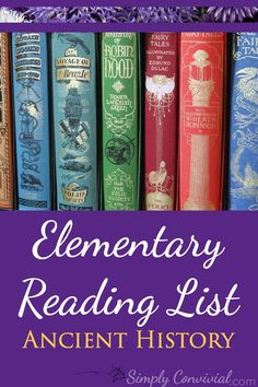 Ancient History Cycle free reading book list for the elementary years