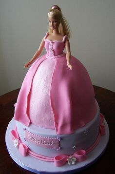 Had one of these for my 6th Birthday. Barbie Birthday Cake For a Girl
