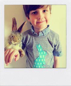 Easter Bunny Applique Shirt Short Sleeve T by charlieandsarah, $24.00