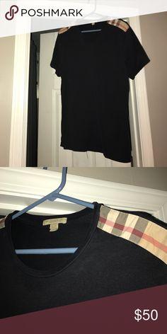 Burberry Men's navy blue size Small shirt. Mens Burberry shirt, size small navy blue. Worn 2 times. Burberry Shirts Tees - Short Sleeve