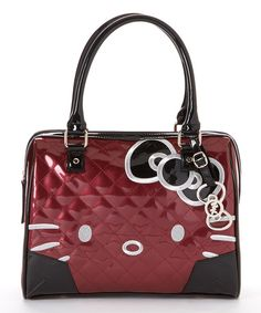 Take a look at this Black & Berry Quilted Patent Hello Kitty Shoulder Bag on zulily today! Hello Kitty Handbags, Hello Kitty Purse, Hello Kitty Items, Yamaguchi, Hello Kitty Makeup, Sanrio Hello Kitty, Cute Bags, Shoulder Bag, Black