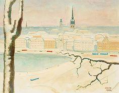 EINAR JOLIN, Stockholm från Mosebacke.