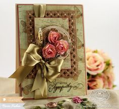 Sympathy Card making ideas by Becca Feeken using Waltzingmouse - Big Day Today and Spellbinders