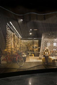 Tandem Studio has combines elements inspired by the wool industry with the visual clarity of gallery design, to create a zoned shopping experience of interwoven stories for Yellow Earth's flagship store at Emporium. Interior Design Awards, Retail Interior, Interior Doors, Master Arquitectura, Wall Design, House Design, Ceiling Design, Melbourne Street, Retail Space
