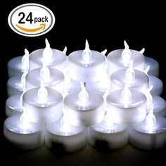Capable Flameless Tea Lights Vintage Tealights Battery Operated Led Candle For Christmas Festival Wedding Decor Utmost In Convenience Candles