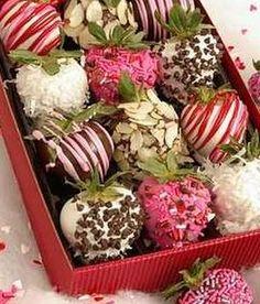 Fresas decoradas