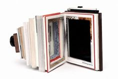 Vintage Camera Made Out Of #Recycled Photography Books