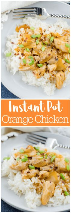 Instant Pot Orange Chicken - takeout taste in 15 minutes! Chicken thighs are cooked in a sweet and spicy orange sauce and served over rice for a kid-friendly, weeknight meal! Healthy Chicken Casserole, Healthy Baked Chicken, Best Chicken Recipes, Asian Recipes, Keto Recipes, Instant Pot Pressure Cooker, Pressure Cooker Recipes, Slow Cooker, Best Instant Pot Recipe