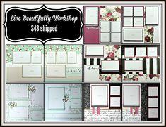 Rose Blossom Legacies: Live Beautifully 5-Layout Scrapbook Kit