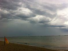 w il sole; ...ma come son belle le nuvole sul mare di cesenatico