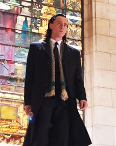 """""""But Marvel have been sweet to me. They have given me action figures. Oh! For my birthday they sent me the scarf that Loki wears in the trailer scene in Thor. Remember when he turns up in a nice suit and overcoat? He is a wearing scarf and so now I am in possession of my Loki scarf."""" Tom Hiddleston about Marvel. wow thats pretty awesome"""