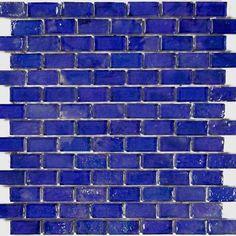 "Cobalt, 1"" x 2"" - Glass Tile"