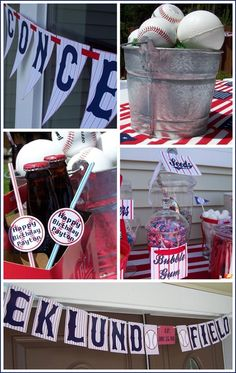 Baseball themed party caden-ideas