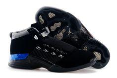 timeless design 3b62b 95a35 Youth Air Jordan 17 Boys Shoe XVII Original OG Low Black Chrome New Jordans  Shoes,