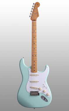 Fender Classic Stratocaster - Maple The Fender Classic Strat offers original sound and feel. This vintage-styled guitar features a one-piece Maple neck and original spec AlNiCo pickups. Electric Guitar Kits, Beginner Electric Guitar, Fender Electric Guitar, Custom Electric Guitars, Guitar Songs, Guitar Art, Cool Guitar, Ukulele, Blue Guitar