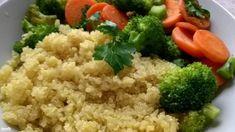 Quinoa brokkolis zöldséggel | Nosalty Diabetic Recipes, Diet Recipes, Quinoa, Fried Rice, Grains, Paleo, Chicken, Meat, Ethnic Recipes