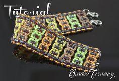 "Beading pattern, bead pattern, rulla pattern, seed bead pattern, beaded bracelet pattern with rulla. ""Helix"" / TUTORIAL ONLY"