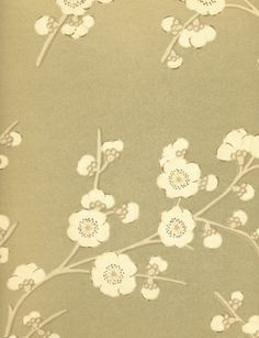 Blossom Effects wallpaper in old gold from the Emporers Garden Collection by GP & J Baker. Oriental Style, Oriental Fashion, Trailing Flowers, Gp&j Baker, Town And Country, Chinese Style, Designer Wallpaper, Chinoiserie, Print Patterns