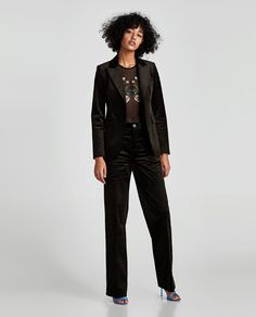 ZARA - WOMAN - BODYSUIT WITH FLORAL EMBROIDERY