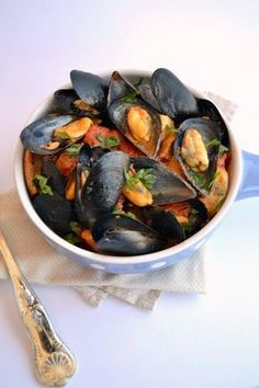 Zuppa di cozze napoletana. Traditionally served as a soup, but more like mussels served in a seasoned liquid. Still fantastic.