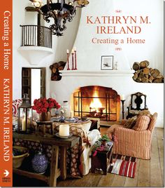 The cover of the new book shows the main, two story Spanish Revival living room. The large painting on the fireplace mantel, shown in both magazine layouts, ...