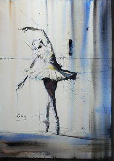 """Saatchi Art Artist OSCAR ALVAREZ; Painting, """"Sueños de bailarina 7"""" #art"""