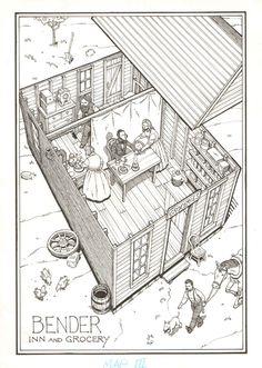 Rick Geary - The Saga of the Bloody Benders, SPLASH, in FredChamberlain's Original Artwork Comic Art Gallery Room