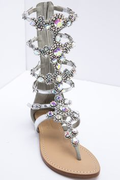 Glisten Up Their Day Gladiator Sandals By Mystique from Kosmios