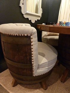 Tracker Home Decor Barrel Chairs. Would Be Cool For The Man Cave!