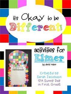 Elmer the Elephant Printables & Craftivity!