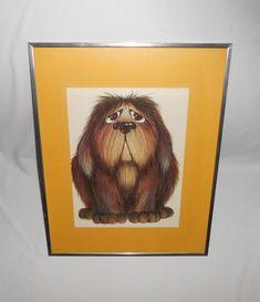 That face! Wonderful #dogprint #larrynielson #dogart #gotvintage Dog Lover Gifts, Dog Lovers, 1970s Art, Dog Artwork, Vintage Prints, Vintage Art, Etsy Vintage, Wall Art Prints, Pop Art