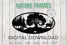 Nature Frames Wild Nature Laser cut Laser cut patterns   Etsy Cnc Router Plans, Woodworking Plans, Laser Cut Patterns, Laser Cut Files, Cnc Plasma, Oval Frame, Wild Nature, Laser Cutting, Dreaming Of You